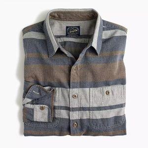New J Crew Deck Striped Shirt Button Up